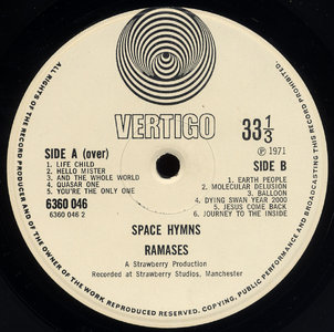 Space Hymns Vertigo Label